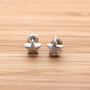 girlsluv.it - simple STAR stud earrings, 2 colors