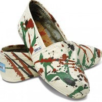 Artist - Tyler Ramsey Hand Painted Natural Womens Classics | TOMS.com