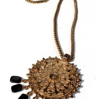 Medallion Stone Necklace