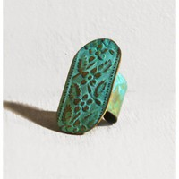 Flores Patina Ring