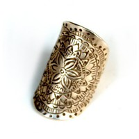 Stamped Flower Ring