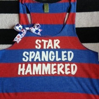 Star Spangled Hammered Striped Tank