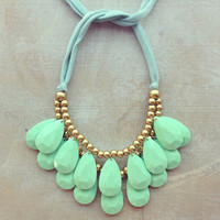 Pree Brulee - Mint Seraglio Necklace