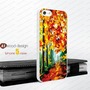 Rubber iphone 4 cases forest path painting  Hard case iphone 4 case iphone 5 cover the best iphone case unique design