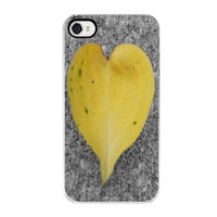 Heart Shape Leaf iPhone 4 and 4s Case by SweetMomentsCaptured
