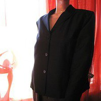 TALBOTS PURE SILKS Jacket BLACK  SILK W BUTTONS Lined SIZE18 !