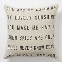Anthropologie - You Are My Sunshine Pillow