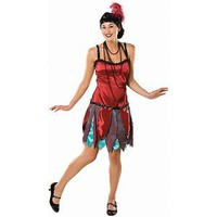 Womens Sexy Flapper Dress Costume Roaring 20's Costume Red 1920's Adult Small