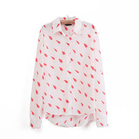 PENGUIN PRINT CHIFFON BLOUSE/SHIRT [296]