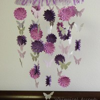 Dahlia and Butterfly Paper Mobile