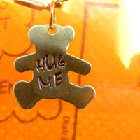 hug me cute teddy bear brass necklace hug me cute teddy bear brass necklace