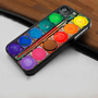 Watercolor Paint Set Fits  - Hard Case Print for iPhone 4 / 4s case - iPhone 5 case - Black or White (Option Please)