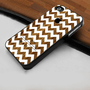 Geometric Aztec White Chevron on Wood Pattern  - Hard Case Print for iPhone 4 / 4s case - iPhone 5 case - Black or White (Option Please)