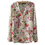 Buy Collarless Vintage flowers Long Sleeve Shirt on Shoply.