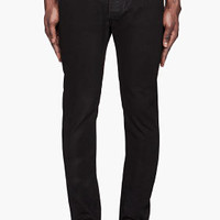 Maison Martin Margiela Black Coated Slim Jeans for men | SSENSE