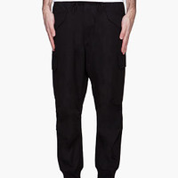 Y-3 Black Cinched Cuff Cargo Pants for men | SSENSE