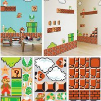 CLASSIC SUPER MARIO BROS WALL GRAPHICS