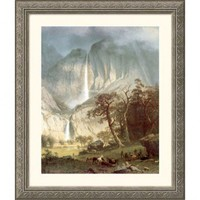Great American Picture Cho-Looke, The Yosemite Fall Silver Framed Print - Albert Bierstadt - 97920-S - All Wall Art - Wall Art &amp; Coverings - Decor