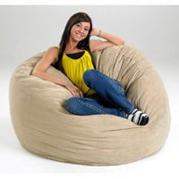 Large Memory Foam Bean Bag | Overstock.com