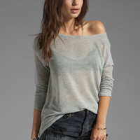 Soft Joie Benton Mesh Top in Heather Grey from REVOLVEclothing.com