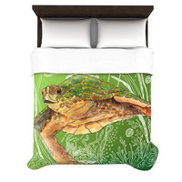"Catherine Holcombe ""Shelley Green Sea"" Duvet Cover 