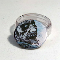 Comic Book 1.5&quot; Button// Walking Dead// Zombie