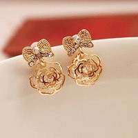 Bow and Rose Fashion Earrings | LilyFair Jewelry