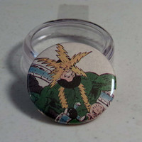 Comic Book 1.5&quot; Button// Electro