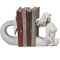 PLASTICLAND - Victorian Mermaid Cast Resin Bookends