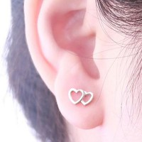 Heart For You 925 Silver Earrings | LilyFair Jewelry