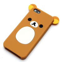 Cute Rilakkuma Bear iPhone 5 case -iphone cases Suppliers