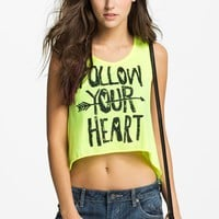 Blink 'Follow Your Heart' Crop Tank (Juniors) | Nordstrom