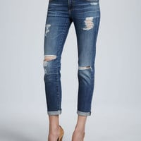 Stilt Thrasher Distressed Cuffed Jeans