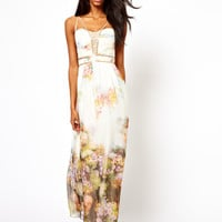 Little Mistress | Little Mistress Maxi Dress in Floral Print at ASOS
