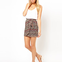 Mango | Mango Printed Sarong Skirt at ASOS
