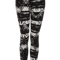 Brushed Worn Aztec Leggings - Sale  - Sale & Offers