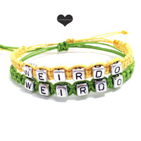 Weirdo Bracelets for Couples Adjustable set of 2