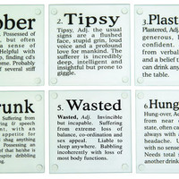 Kikkerland Drunk Glass Coasters, Set of 6