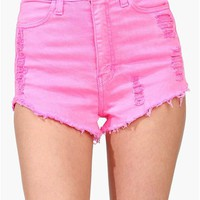 Candyland Shorts - Neon Pink