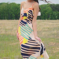Sherbet Striped Dress
