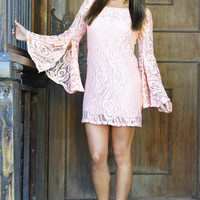 Flower Fixation Dress: Peach | Hope's