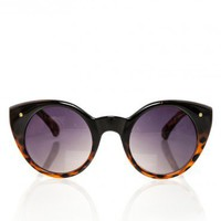 Cat Eye Circle Shades in Tortoise - ShopSosie.com