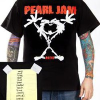 Pearl Jam, T-Shirt, Stickman