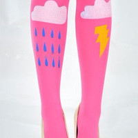 Cloud Rain Lightning Pantyhose