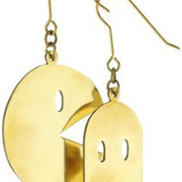Monserat De Lucca Brass Pacman Earrings