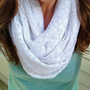Summer White Infinity Scarf