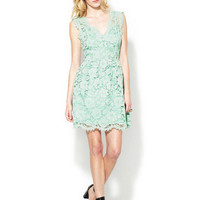 The Letter V-Neck Fit and Flare Lace Dress