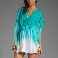 Catherine Malandrino Kaftan Blouse in Appletini Dip Dye from REVOLVEclothing.com
