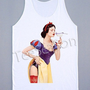 Snow White Shirt Comic Hollywood Movies Shirt Tunic Top Women Tank Top Women Shirt Sleeveless Vest Singlet Women T-Shirt Size M