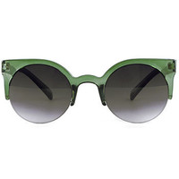 Forest Lucite Lucy Sunglasses